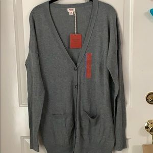 Mossimo Supply Co Gray Cardigan ~ Size Large